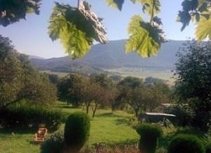záhrada, relax, hudba, výhľad