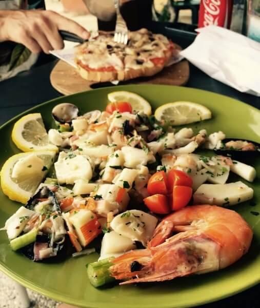 šalát z plodov mora, Sardínia, Taliansko