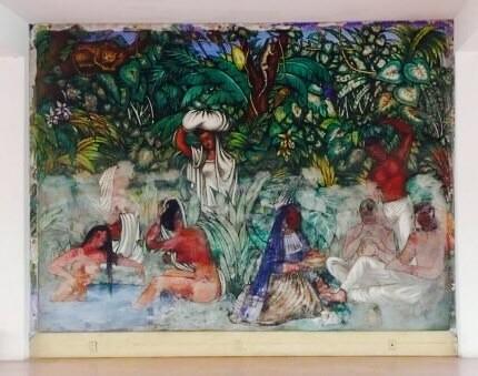 maľby Diego Rivera, hotel Casablanca, Acapulco, Mexiko