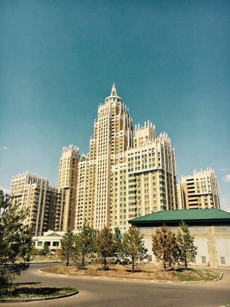 bytovka, obytný dom, panelák, Astana, Kazachstan, Nursultan