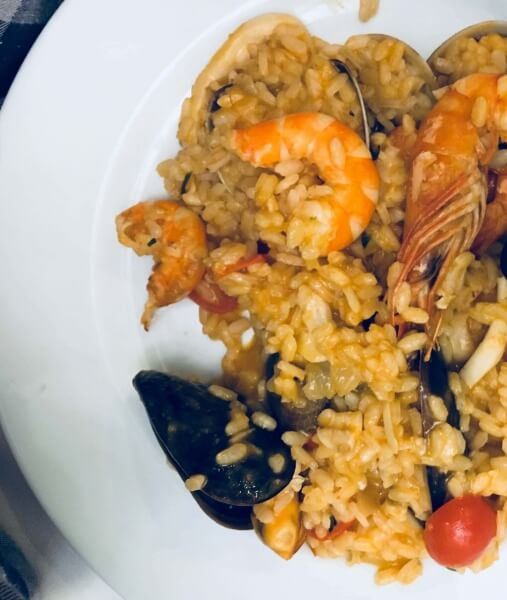 rizoto s morskými plodmi