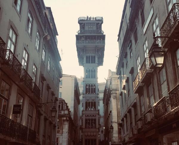 výťah Santa Justa, Lisabon, Portugalsko