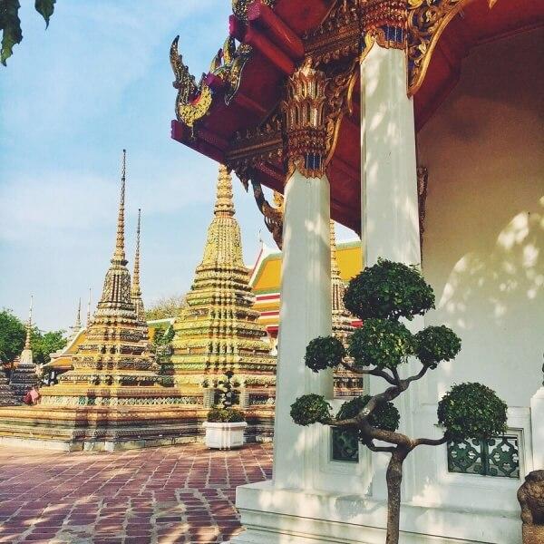Budhistický chrám Wat Pho, Bangkok, Thajsko