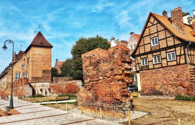 tehlové domy v Gdansku