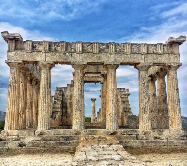 Chrám Aphaia, Aegina, Ejina, Egina, Aigina, Grécko