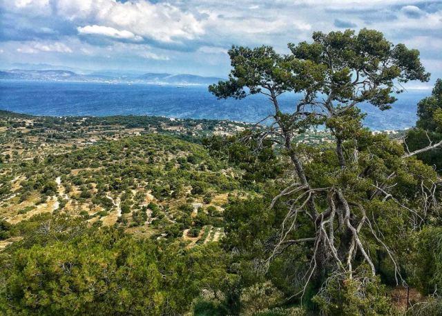 výhľad na Sarónsky záliv, Aegina, Ejina, Egina, Aigina, Grécko
