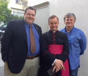 Joseph, our church administrator, Canon Davies, and Ray