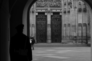 Waiting in the shadows, St. Vitus Cathedral.