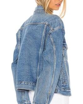New style customized color women's wholesale denim jackets