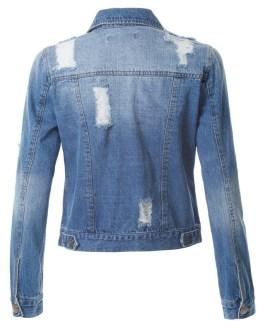 Wholesale Women Custom Buttons Denim Jean Jacket