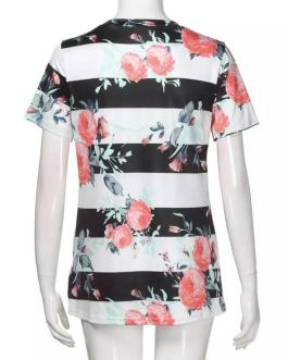 Wholesale Clothing Custom T-shirt Printing Design V Neck T Shirt Women