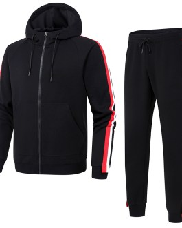 Gym pants fashion cheap eco-friendly unisex causal polyester wholesale fleeces sets hoodie pants for man