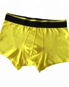 Men's Solid Color Elastic Band Boxer Briefs Collection
