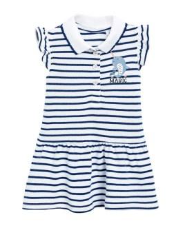 Strip Girls Summer Casual Cotton Short Sleeve Polo Shirt Collection