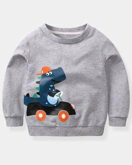 Casual Kids Autumn Fashion Cartoon Print Children's Sweatshirt