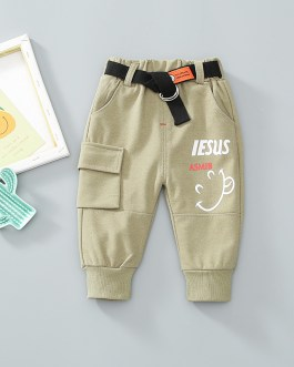 Casual Style New Children's Sport Trousers Fashionable And Thin Style Pants Collection