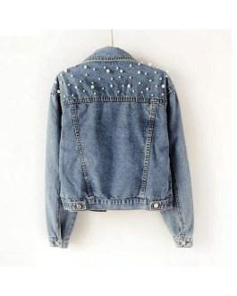 Latest Fashion Pearl Jacket Women's Denim Jean Jackets Collection