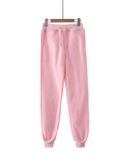 Hot Style Comfortable Cotton Blank Pocket Stretch Waist Top Sport Pants Jogging Pants Ladies Pants