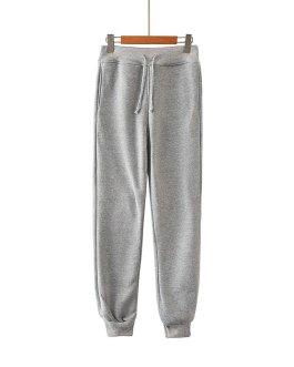 New Style Comfortable Cotton Blank Pocket Stretch Waist Top Sport Pants Jogging Pants Ladies Pants