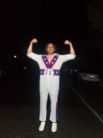 Evel Knievel getting ready...