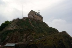 The little church on top of the hill in Ilfracombe