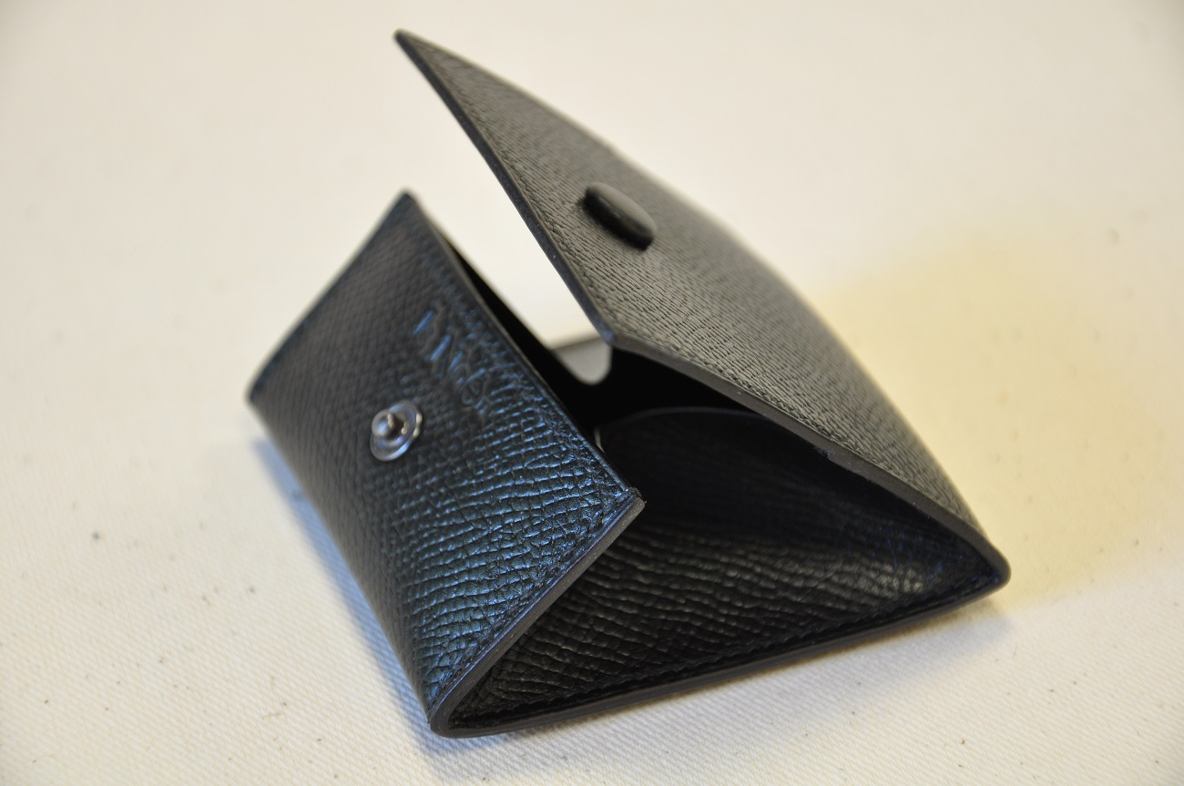 Change purse small size for man, in grained calfskin. France
