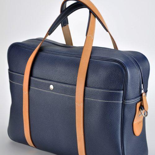 Bagage, sac de luxe mixte en vachette. Créez le vôtre en choisissant le cuir, le fil, l'intérieur... Made in France