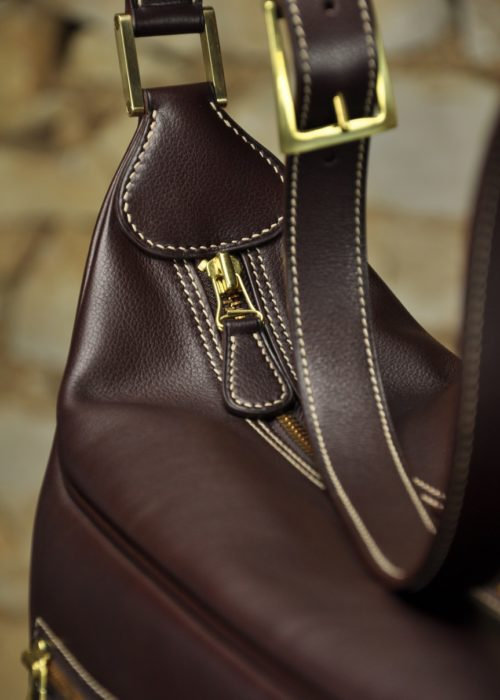Bespoke creation, bag for woman in leather. Luxury know-how by LE NOËN.