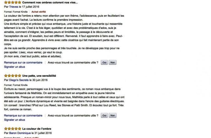 Critiques Amazon