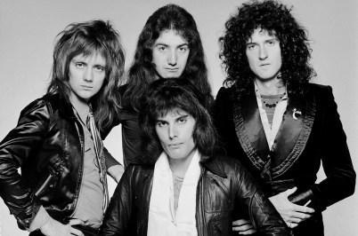 Freddy Mercury et les membres de Queen