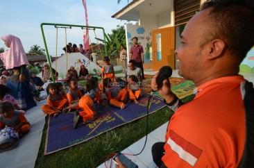 Anggota ROC, Hasto mendongeng di hadapan anak anak TK Taman Hati
