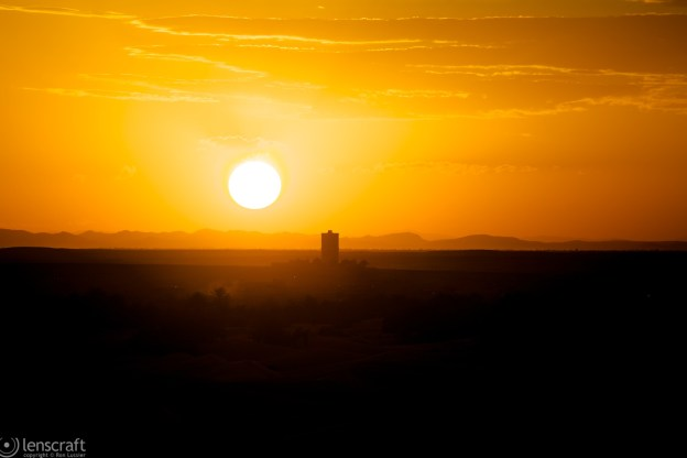 sunset over the sahara / erg chebi, morocco