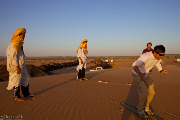 in a land without lawyers, everyone is encouraging / erg chebbi, morocco