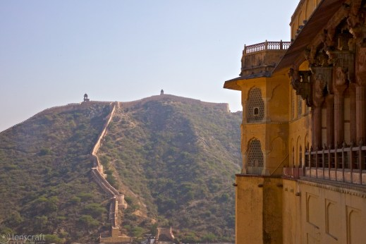 amer fortress walls / jaipur, india