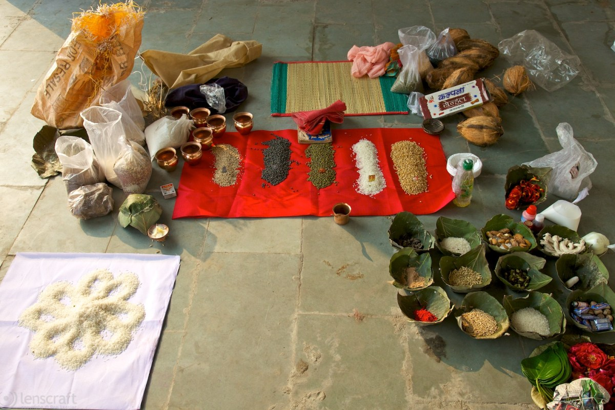 funerary offerings / udaipur, india