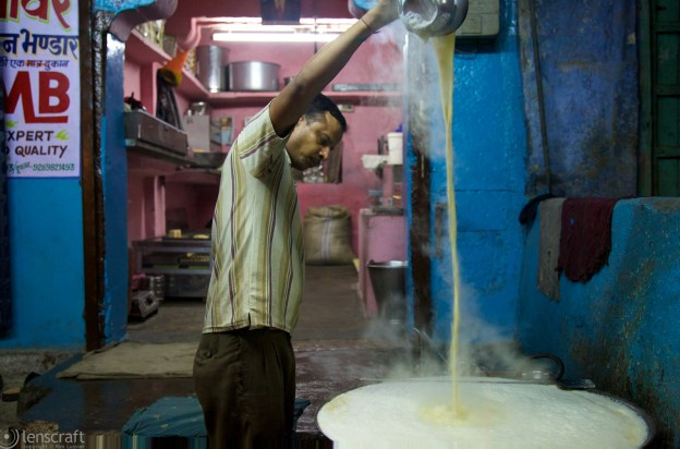 making curd / jodhpur, india