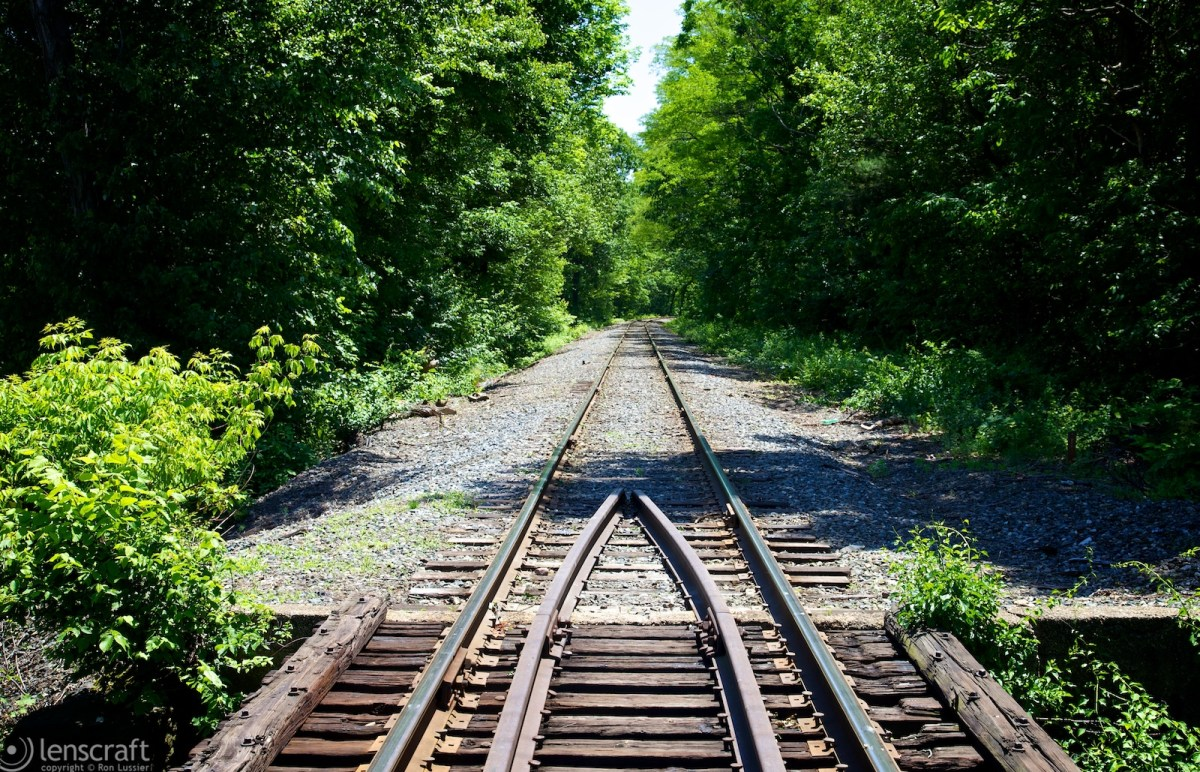 walking the tracks on a summer's day / woonsocket, rhode island