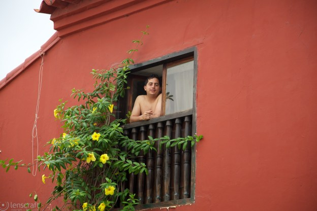 man in the morning / cartagena, colombia