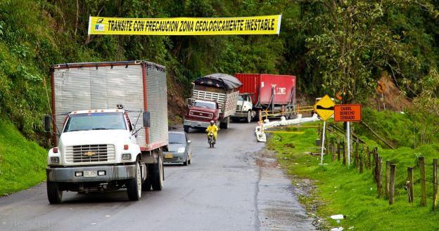 zona geologicamente inestable / manizales, colombia