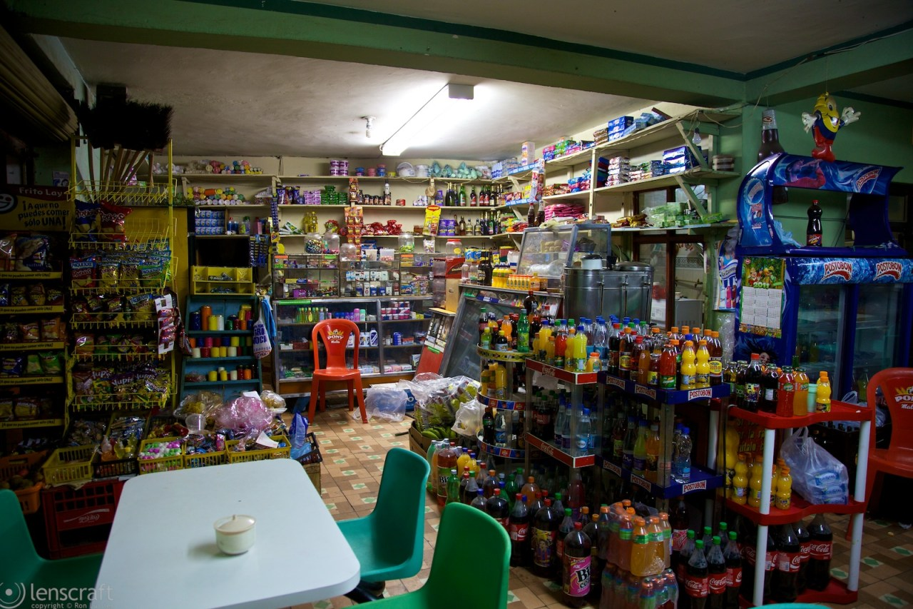 snacks, beverages, and sundries / las lajas sanctuary, colombia