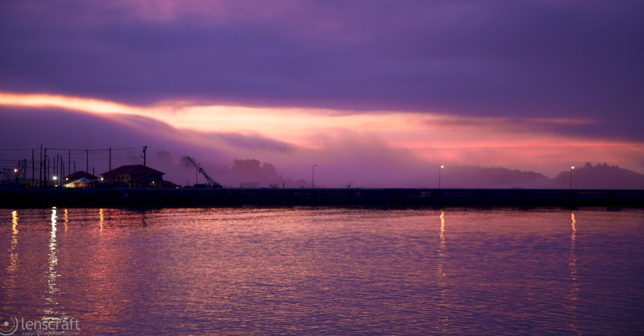 dawn fog / richmond bridge, richmond, ca