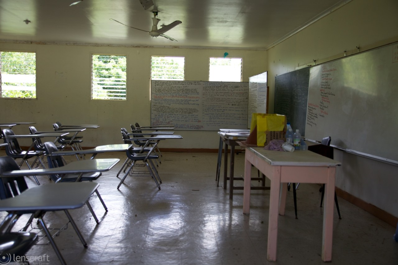 classroom / yap high school, micronesia