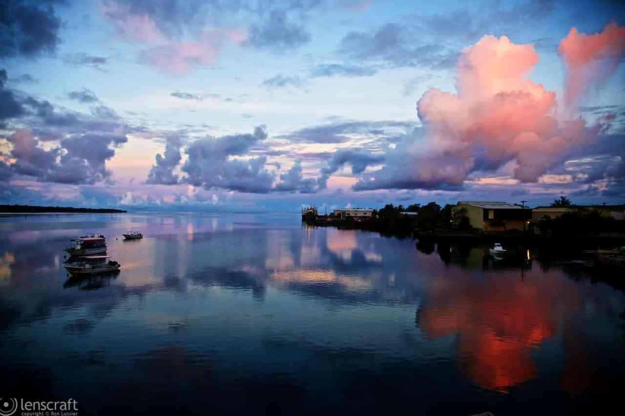 dusk over yap / micronesia
