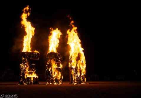 ego burning in the dark / black rock city, nevada