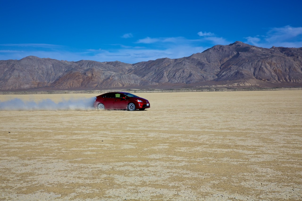 screaming across eternity in a prius / black rock, nevada