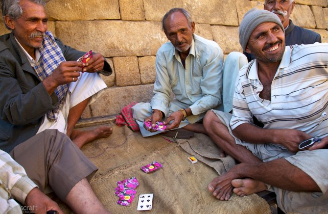 the card players, beneath the walls / jaisalmer, india