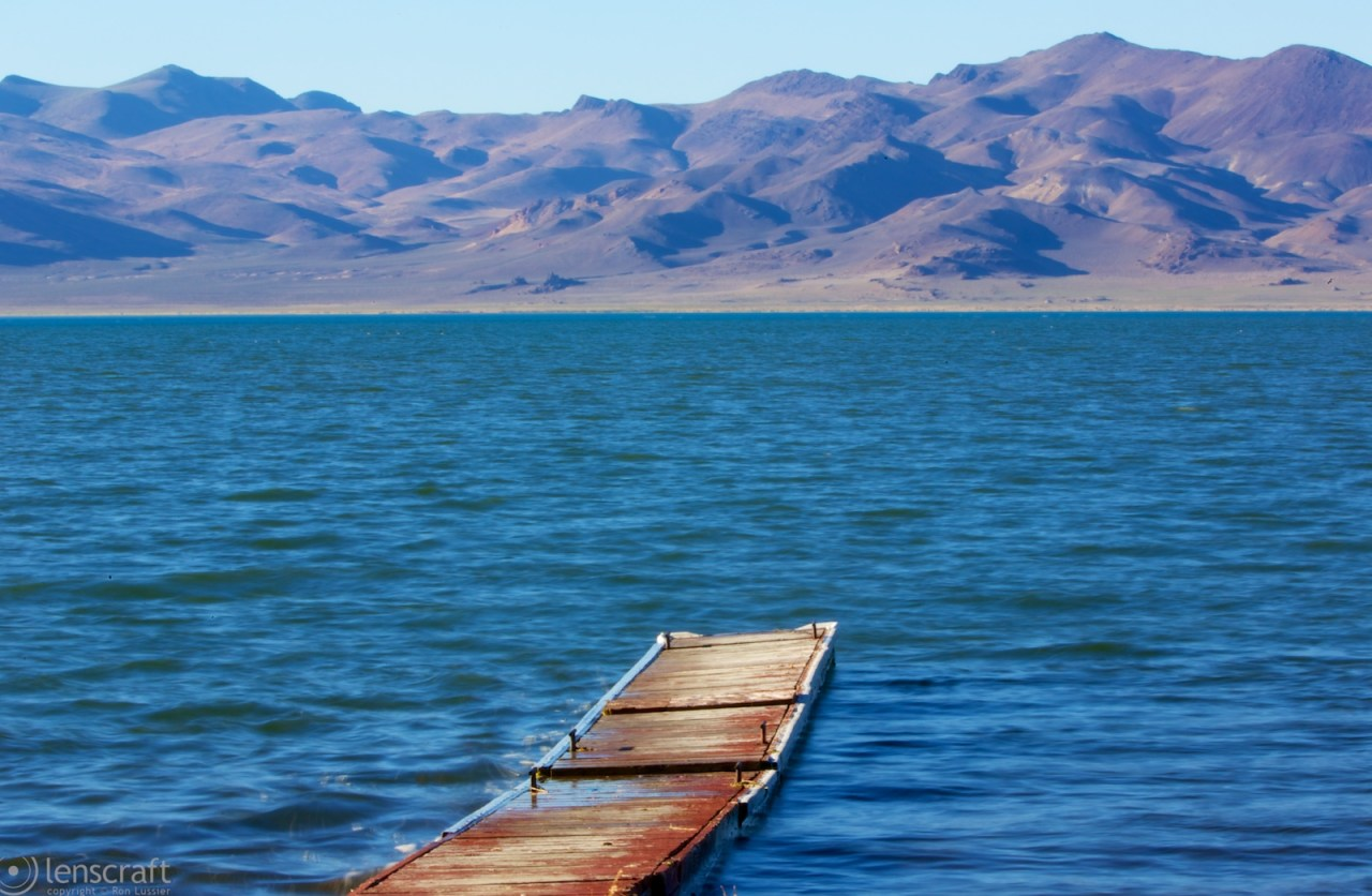 dock / pyramid lake, nevada