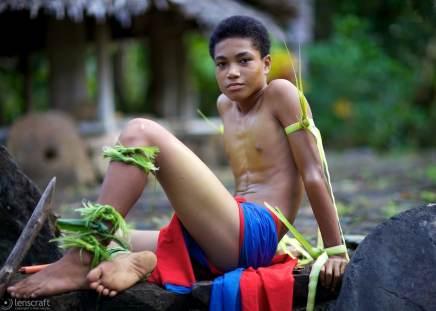 warrior boy / yap, micronesia