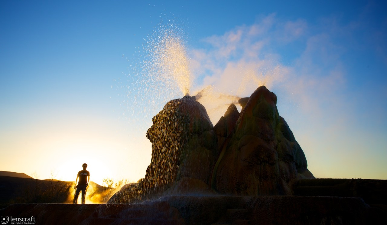 fly geyser and jon / fly ranch, nevada