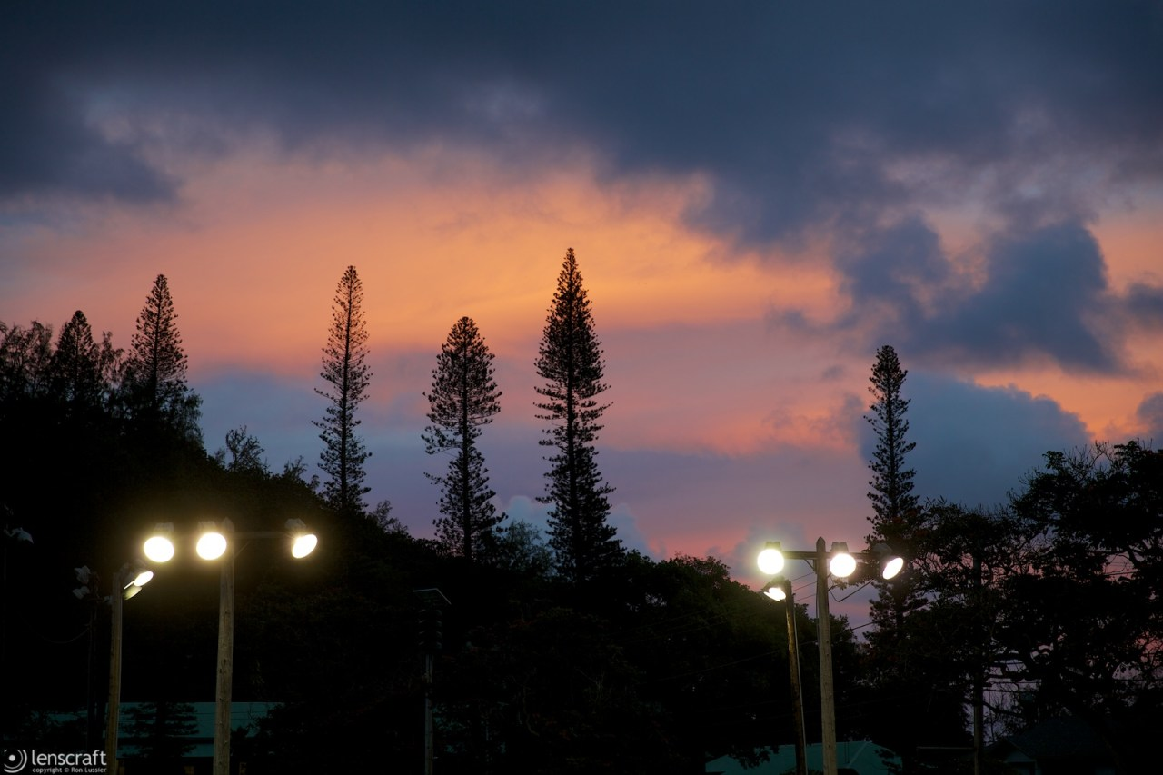 night falls / hana, hawaii